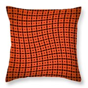 Slide In Red Throw Pillow