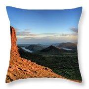 Slieve Bearnagh Rusty Golden Sunset Throw Pillow