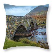 Sligachan Bridge View #h4 Throw Pillow by Leif Sohlman