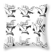 Slight Of Hand Throw Pillow