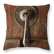 Slim Door Knocker Throw Pillow
