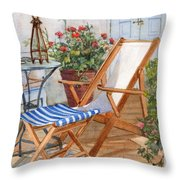 Sling Back Chair Throw Pillow