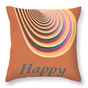 Slinky - Happy Birthday Card 2 Throw Pillow