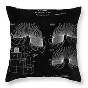 Slinky Patent Design  Throw Pillow