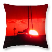 Slipping Over The Edge Throw Pillow