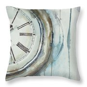 Slipping Time Throw Pillow