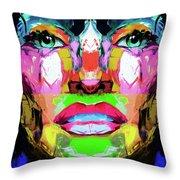 Split Personality By Nixo Throw Pillow