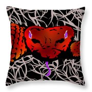 Slithering Blue Throw Pillow
