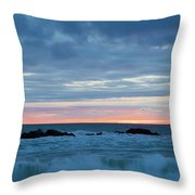 Sliver Of Pink At Moonstone Beach Throw Pillow