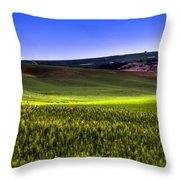 Sliver Of Sunlight On The Palouse Hills Throw Pillow