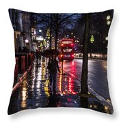 Sloane Street Square Throw Pillow