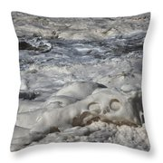 Sloppy Folding Over Of A Momenary Water Sculpture Throw Pillow