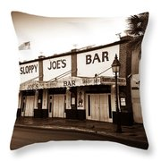 Sloppy Joe's - Key West Florida Throw Pillow by Bill Cannon