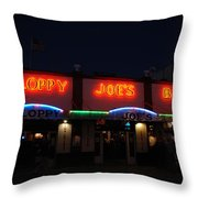 Sloppy Joes By Night Throw Pillow