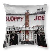 Sloppy Joe's Saloon- Key West Throw Pillow
