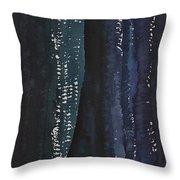 Slot Canyon In Moonlight Original Painting Throw Pillow