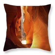 Slot Canyon Light Throw Pillow