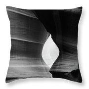 Slot Canyon - Monochrome Throw Pillow