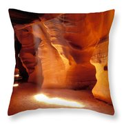 Slot Canyon Warm Light Throw Pillow by Garry Gay