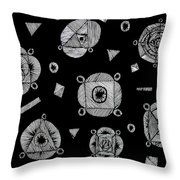Slots Of Light Through The Darkness. Throw Pillow