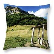 Slovak Mountains Throw Pillow