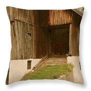 Slovenian Barn Throw Pillow