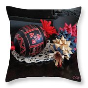 Slovenian Easter Throw Pillow