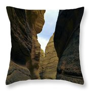 Slot Canyon Within The Tent Rocks Throw Pillow