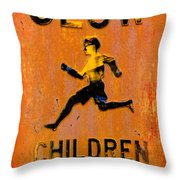 Slow Children Playing Throw Pillow