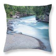 Slow Down On Mcdonald Creek Throw Pillow