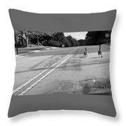 Slow Down- Stop Sign Ahead Throw Pillow