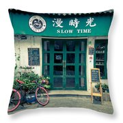 Slow Time Throw Pillow