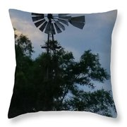 Slowly Blows The Wind Throw Pillow