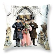 Slum Landlords, 1895 Throw Pillow