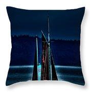 Small Among The Tall Ships Throw Pillow