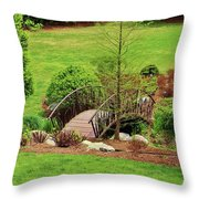 Small Arched Bridge Throw Pillow