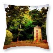 Small Autumn Silo Throw Pillow
