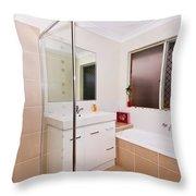 Small Bathroom Throw Pillow