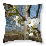 Small Blossoms Throw Pillow