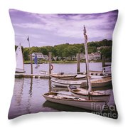 Small Boat Day Throw Pillow