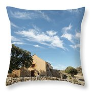 Small Chapel In The Hills Of The Balagne Region Of Corsica Throw Pillow