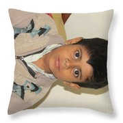 Small Child Images Throw Pillow