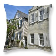 Small Colonial Style Homes Throw Pillow