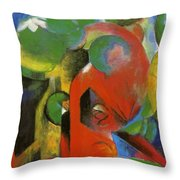 Small Composition IIi Throw Pillow