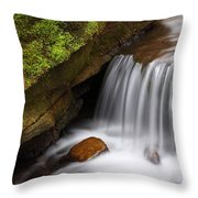 Small Falls At Governor Dodge State Park Throw Pillow