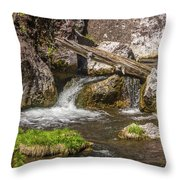Small Falls Below Big Falls Throw Pillow