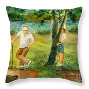 Small Golf Hazard Throw Pillow