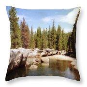 Small Lake Sierra Nevada Throw Pillow