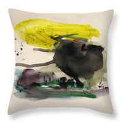 Small Landscape16 Throw Pillow