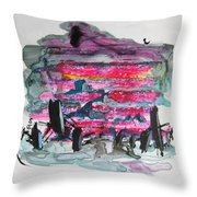 Small Landscape48 Throw Pillow